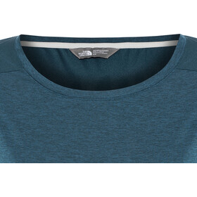 The North Face Inlux Top manga 3/4 Mujer, blue wing teal dark heather